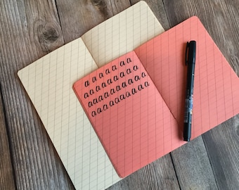 Hand Lettering / Calligraphy Practice Traveler's Notebook Insert Available in 8 sizes