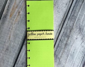 HALF SHEET Vertical  Notepaper to fit Happy Planner and Filofax Planners A5 / Personal / Classic / Mini Disc
