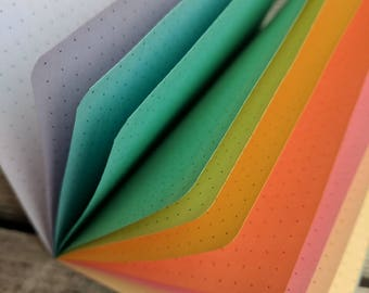 PASTEL RAINBOW Traveler's Notebook Insert  - Choice of 8 sizes and 10 patterns