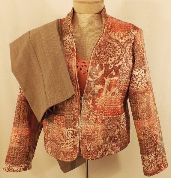 80 S Women S Suit 80 S Vintage Brown Pants Suit Etsy