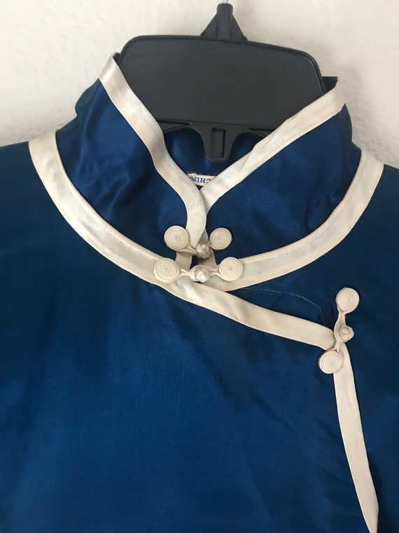 1930s sumptuous chinese silk charmeuse pajama lou… - image 3