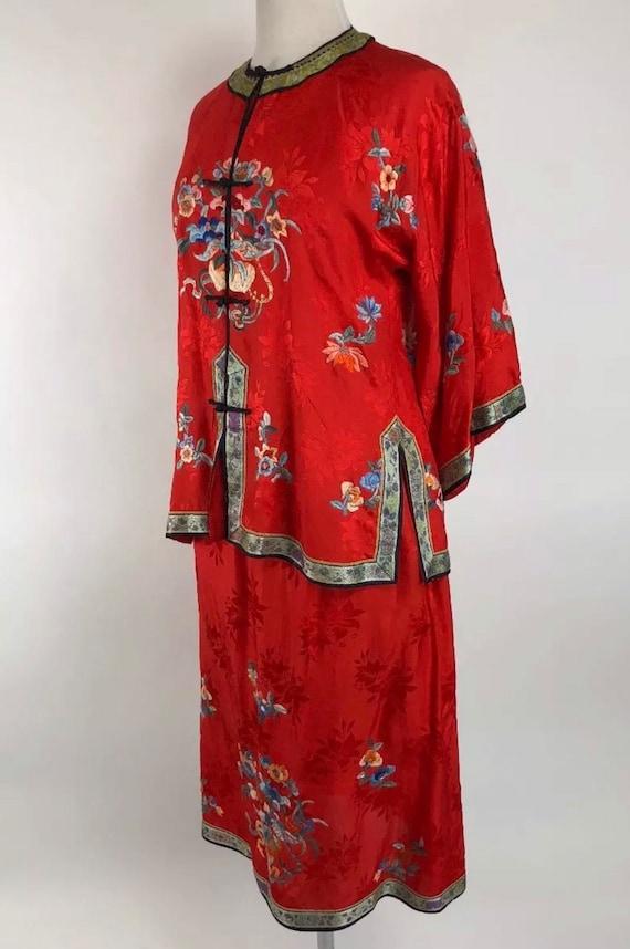 Gougeous Donna Cinese Giapponese Orientale Kimono Blu Vestaglia ROBE