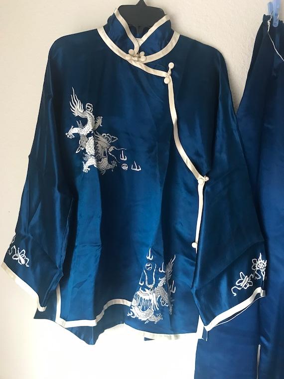 1930s sumptuous chinese silk charmeuse pajama lou… - image 4