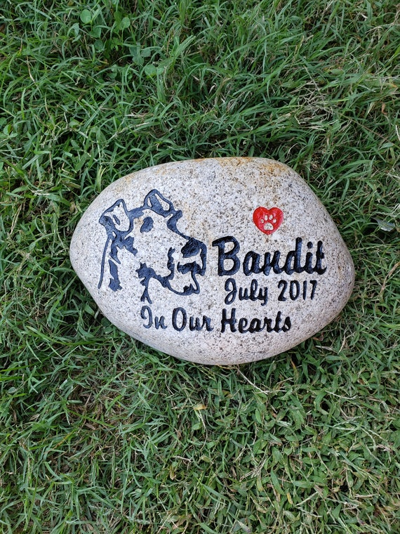 """PERSONALIZED with NAME HORSE MEMORIAL ENGRAVED  STONE 8"""" approx. size"""