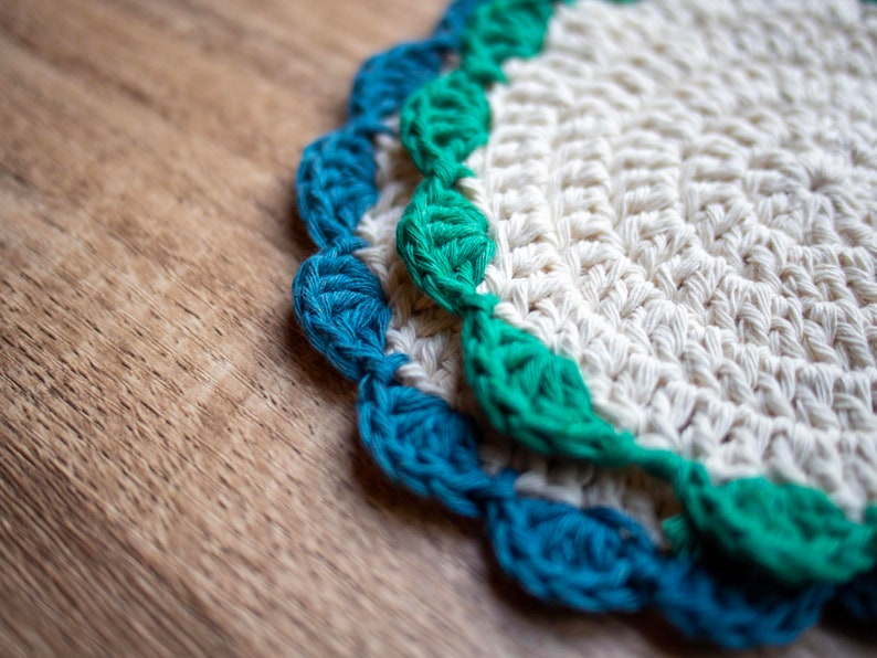 Crocheted placemats Cotton placemats, colors and sizes natural tablemats decorating pads