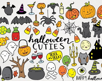 halloween clipart etsy rh etsy com free printable halloween clipart border printable halloween clip art black and white