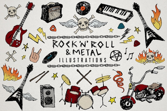 rock n roll clipart heavy metal music clip art etsy rh etsy com rock and roll clip art free rock and roll clip art images