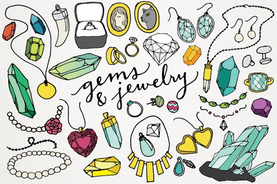 gems and jewelry clipart logos gems clipart jewels clip rh etsy com jewelry clip art images jewelry clip art free