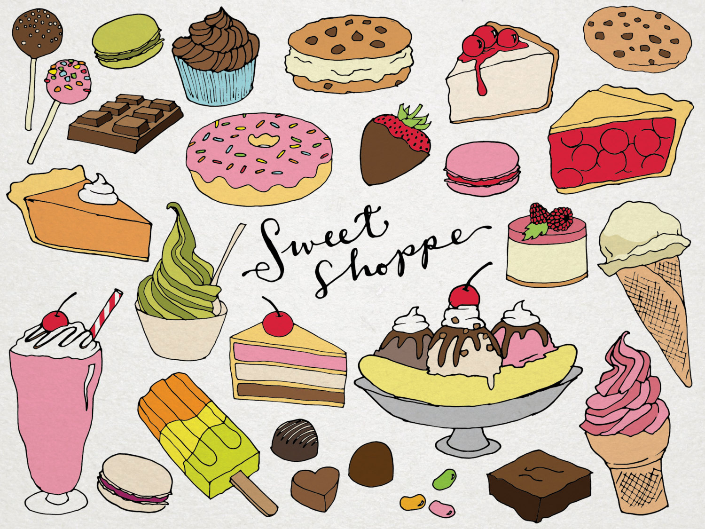 Desserts Clipart Sweet Shoppe Clip art hand drawn clip art ...
