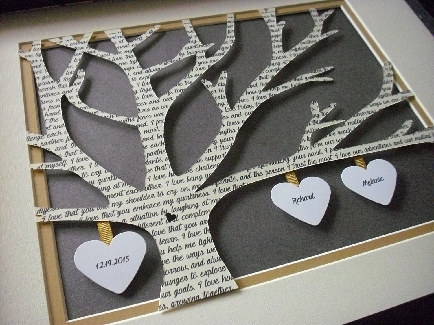 Paper Anniversary Gift Ideas: Paper Anniversary Gift Customized Wedding Gifts 11X14