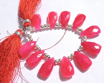 Raspberry Pink Chalcedony Fancy Carved Shape Briolettes JT42 12MM Pink Chalcedony Shell Shape Briolettes,Pink Chalcedony Fancy Briolettes