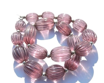 16 Pcs Very Nice Tourmaline Quartz Hand Carved Long Oval Shaped Beads Size - 18X11 - 12X10 MM