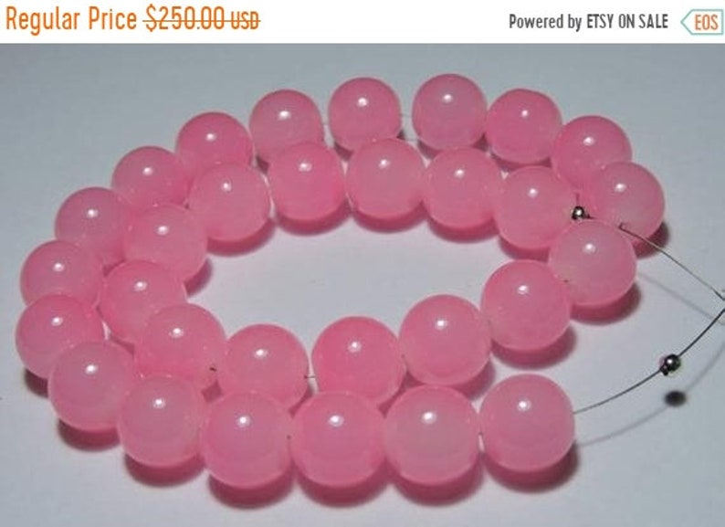 Summer Sale 20 Pieces Natural Rose Quartz Chalcedony Smooth Polished Round Balls Size 12 MM