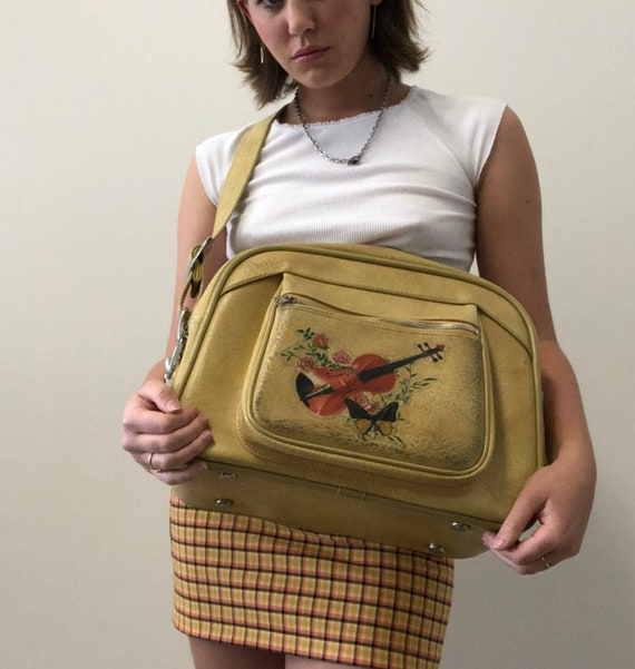 Dreamy Vintage Yellow Traveling Bag