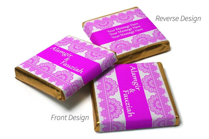 Personalised Chocolate Neapolitan squares Mehndi Brown Banner