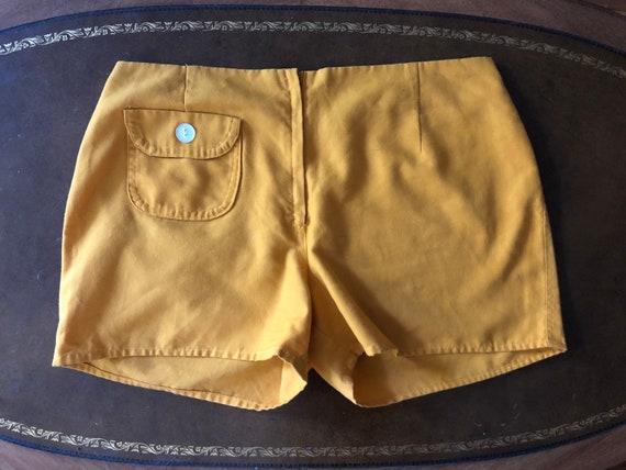 Vintage Yellow Cotton Shorts, 1970s