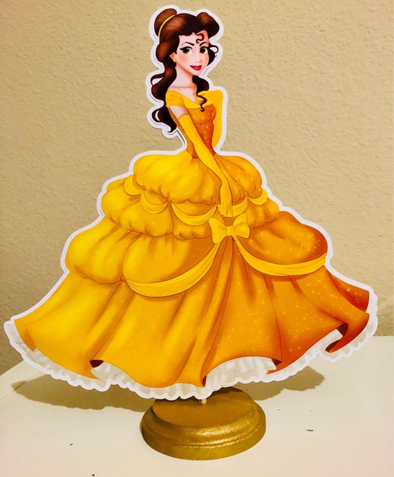 Beauty And The Beast Centerpieces Belle Birthday Party Etsy