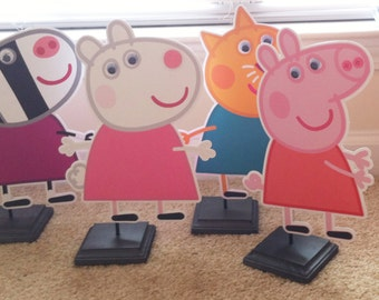 Peppa Pig & Friends Centerpieces, Peppa Pig Centerpieces, Peppa Pig Birthday Party