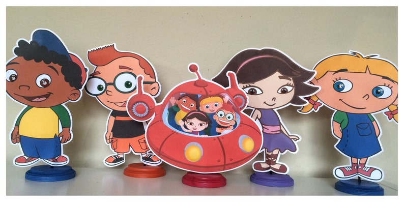 Little Einstein Inspired Birthday Party Stand Up Characters Etsy