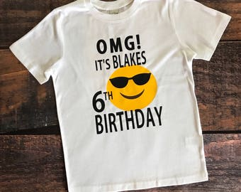 Emoji Birthday Shirt Boys Tee