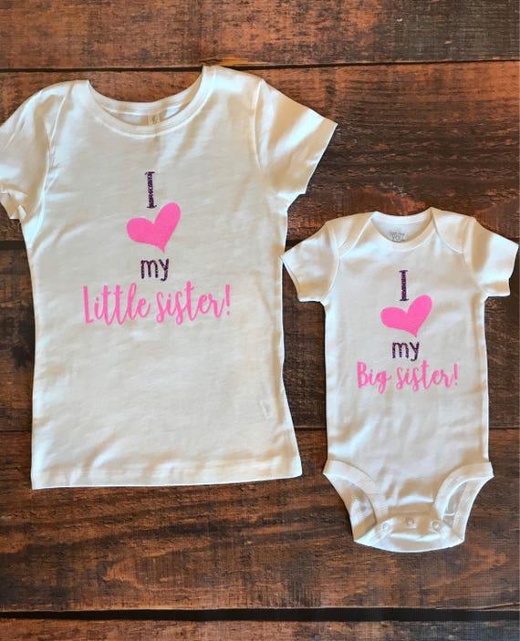 I Love My Sister Sisters Sisters Shirts I Love My Baby Etsy