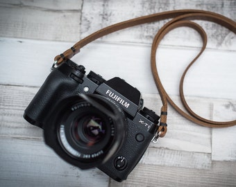 Rivet Free Leather Camera Strap, Tan Leather Camera Strap, Black Leather Camera Strap, Handmade Leather Camera Strap,