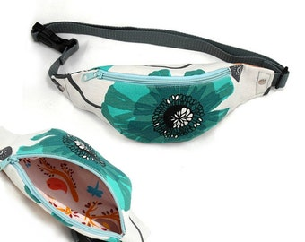 Waist bag, hip pouch, belt bag, travel bag - bag sewing pattern and tutorial, instant download - t001