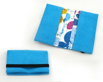 Business card holder, credit card organizer, card wallet - PDF sewing pattern and tutorial, instant download - w002