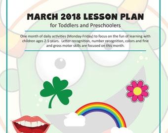 Digital Toddler And Preschool Lesson Plans