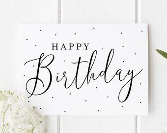 Simple Birthday Card Elegant Best Friend For Mom Polka Dot Her