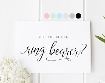 Will You Be Our Ring Bearer, Card For Ring Bearer, Ring Bearer Proposal Card, Ring Bearer Request Card, Be Our Ring Bearer, Wedding Bearer