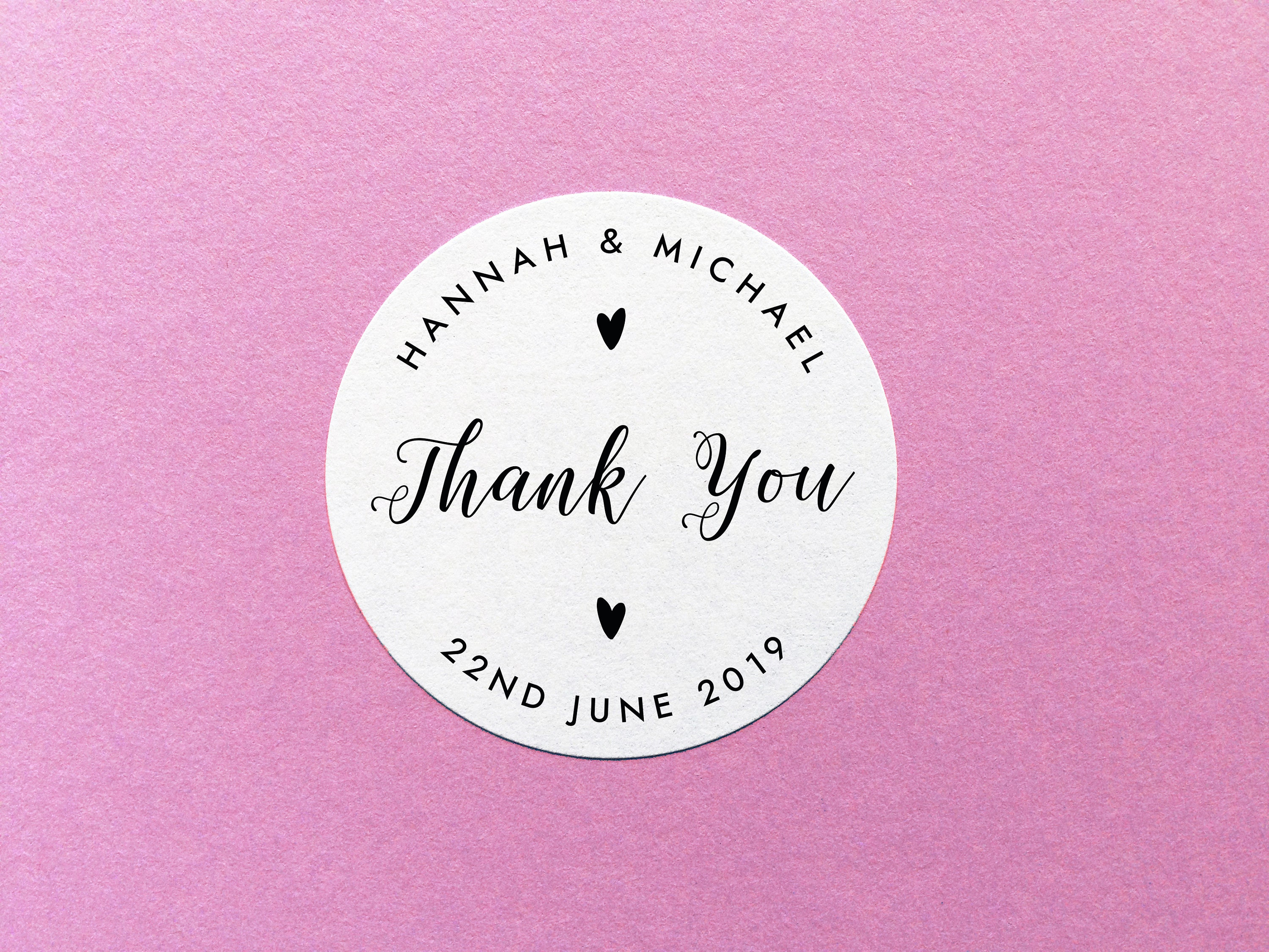 Personalised Thank You Stickers Wedding Thank You Labels | Etsy