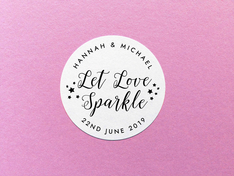 Let Love Sparkle Stickers Wedding Sparkler Stickers Sparkler   Etsy