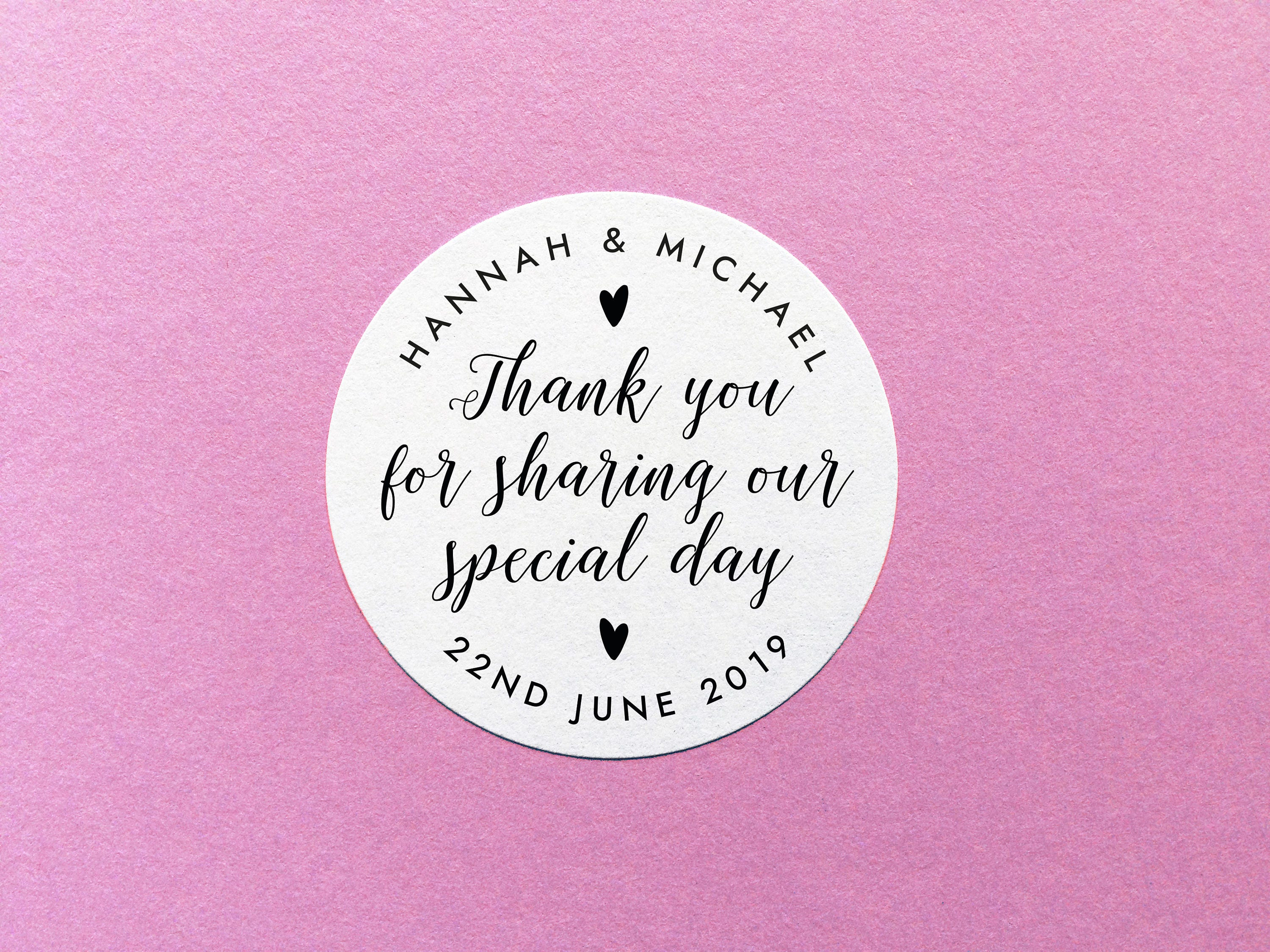 Thank you stickers thank you for sharing our special day stickers personalized thank you labels party favor stickers wedding favor label