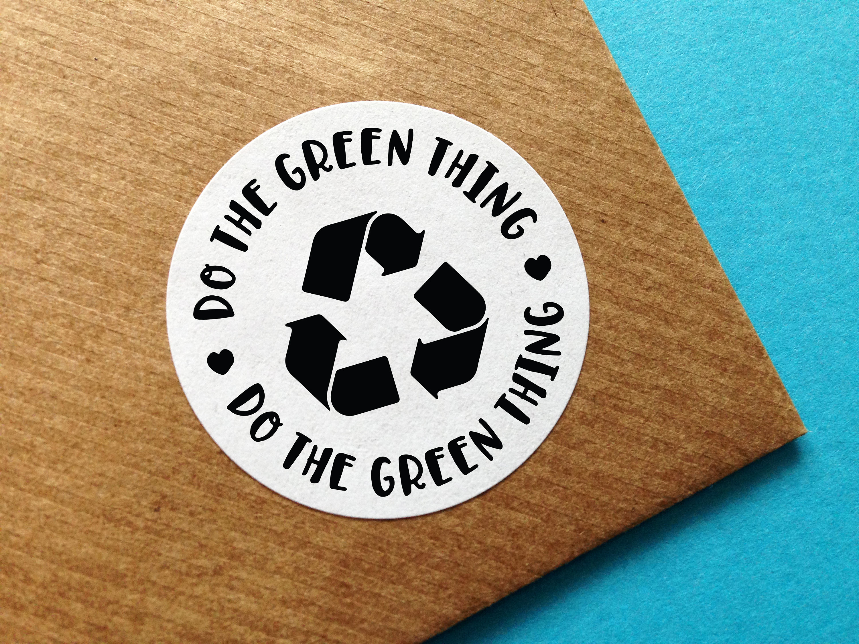 Recycle Sticker Happy Mail Sticker Green Recycling Label