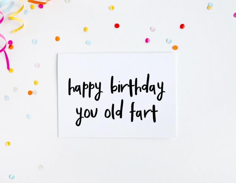 Alles Gute Zum Geburtstag Karte Du Alter Sack Lustige Etsy