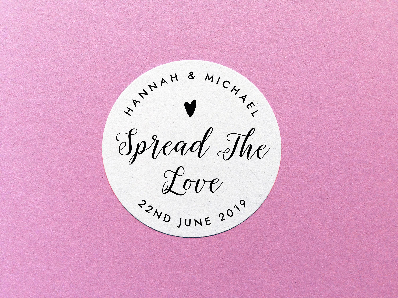 Spread The Love Sticker Wedding Jam Sticker Wedding Favour