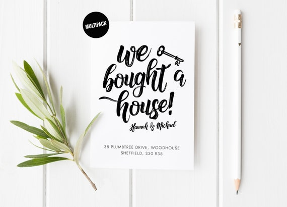 We Bought A House Card Pack Moving Announcement Postcards Etsy