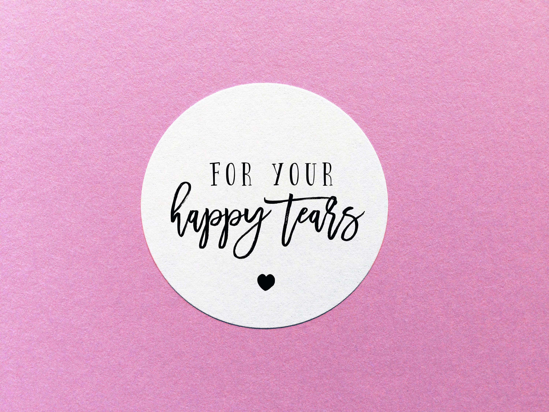 Happy Tears Sticker Wedding Tissues Label Wedding Tears | Etsy