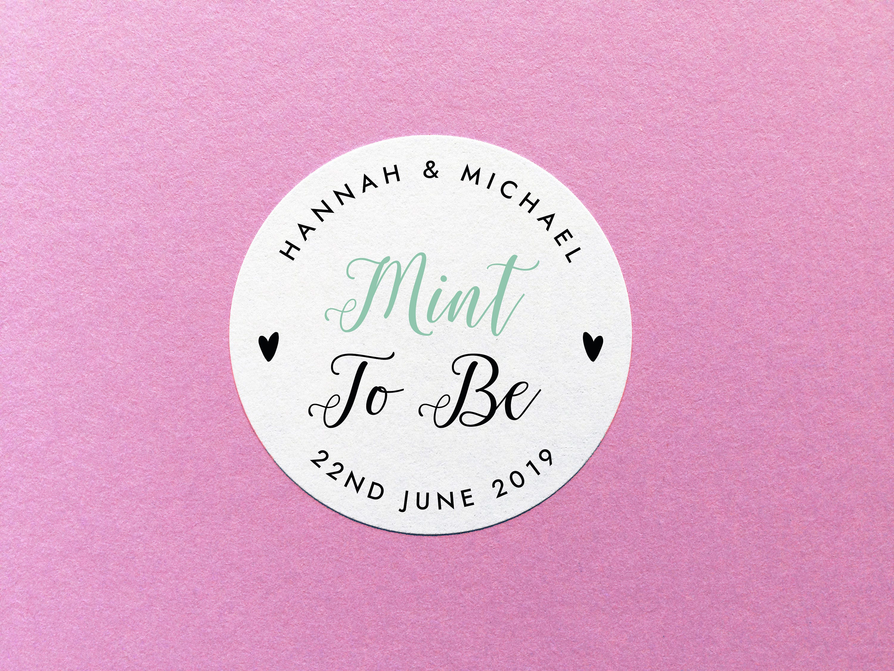 Mint To Be Sticker Personalized Mint To Be Party Favour