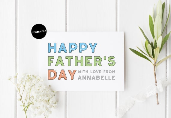 simple father s day card personalised father s day