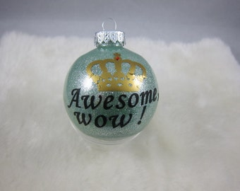Hamilton Christmas Ornament.Hhs 5 Personalized Monogrammed Snowman High School Glass
