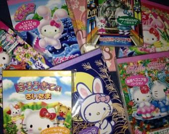 Big Lot of 50 OR 100 Hello Kitty Sanrio Gotochi / Regional / Local / District Japan Exclusive Kawaii Memo Sheets