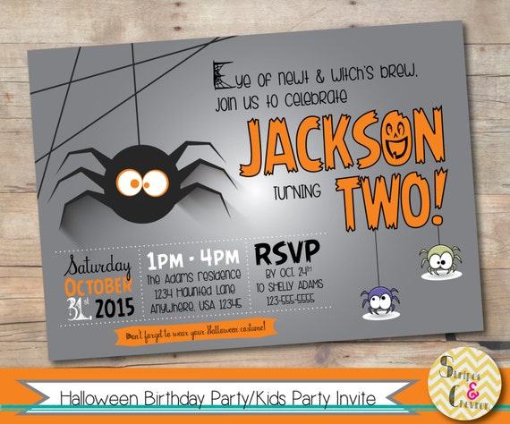 Halloween Birthday Invitation Printable Party