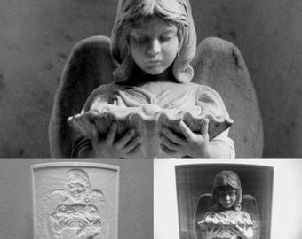 Bonaventure Baldwin angel cemetery night light.