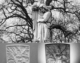 Roseland park cemetery night light Berkley Michigan