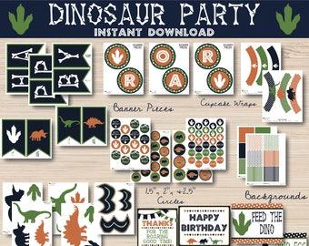 Dinosaur Party Decorations - Dinosaur Decorations Instant Download - Dinosaur Banner - Dinosaur Decor - Dinosaur Party - Dinosaur Birthday