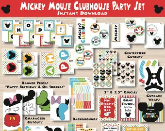 Mickey Mouse Party Decorations - Mickey Mouse - Mickey Mouse Printables - Mickey Mouse Party - Mickey Mouse Birthday Decorations - 1st Birth