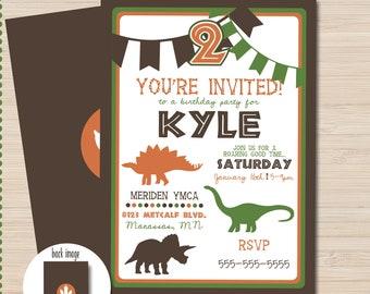 Dinosaur Birthday Invitation - Dinosaur Invitation - dinosaur invitation printable - dinosaur party printables - dinosaur decorations