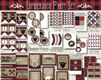 Lumberjack Birthday - Lumberjack First Birthday Decorations - Lumberjack First Birthday - Lumberjack Party - Lumberjack Birthday Decorations